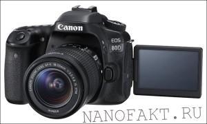 Новая камера EOS 80D от Canon